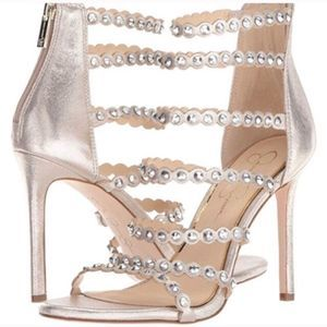 Jessica Simpson Jezalynn Studded Stiletto Sandals